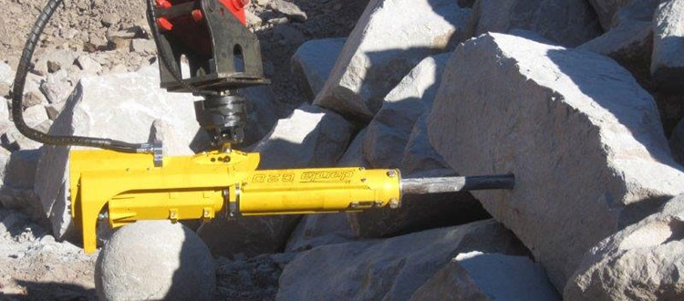 Darda C20 maskinmontert fjellsplitter